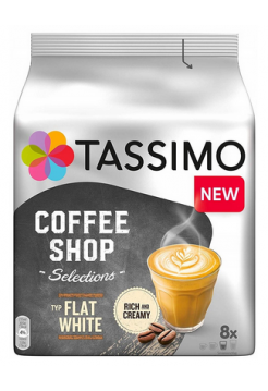 Капсулы Tassimo Coffee Shop Selections Flat White (8 капс.)